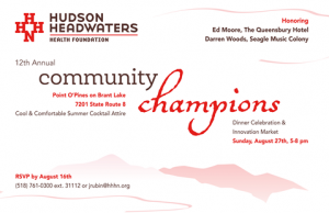 Hudson Headwaters Community of Champions invite