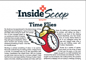 Hudson Headwaters the Inside Scoop Newsletter cover image