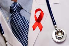 Dr supporting HIV / AIDS research