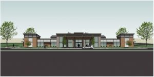 3D rendering of Champlain Family Health building