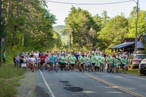 Starting line of a local race sponsored by Hudson Headwaters