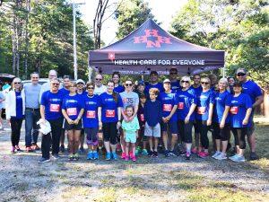 Run for Fun race participants posing for photo