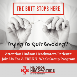 The butt stops here smoking cessation graphic.