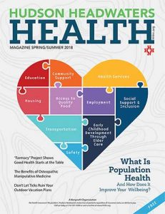 Hudson Headwaters Health Magazine Spring/Summer 2018 Issue Cover